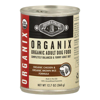 Castor And Pollux Organic Canned Dog Food - Chicken And Brown Rice - Case Of 12 - 12.7 Oz.-Castor & Pollux-DirtyFurClothing