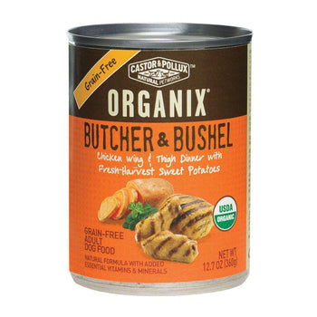 Castor And Pollux Organic Canned Dog Food - Chicken Wing And Thigh - Case Of 12 - 12.7 Oz.-Castor & Pollux-DirtyFurClothing