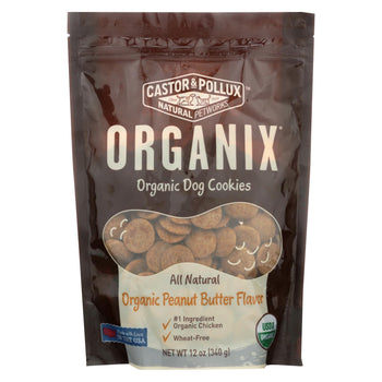 Castor And Pollux Organic Dog Cookies - Peanut Butter - Case Of 8 - 12 Oz.-Castor & Pollux-DirtyFurClothing