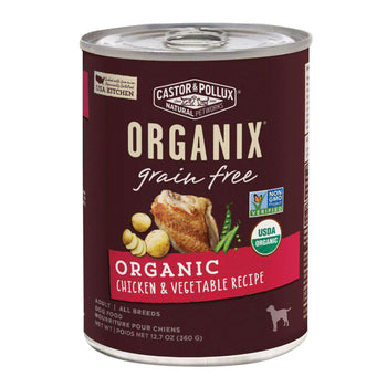 Castor And Pollux Organic Grain-Free Canned Dog Food - Chicken And Vegetables - Case Of 12 - 12.7 Oz.-Castor & Pollux-DirtyFurClothing
