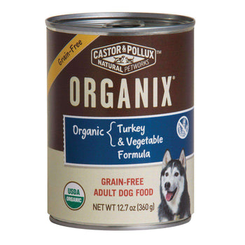 Castor And Pollux Organic Grain-Free Canned Dog Food - Turkey And Vegetables - Case Of 12 - 12.7 Oz.-Castor & Pollux-DirtyFurClothing