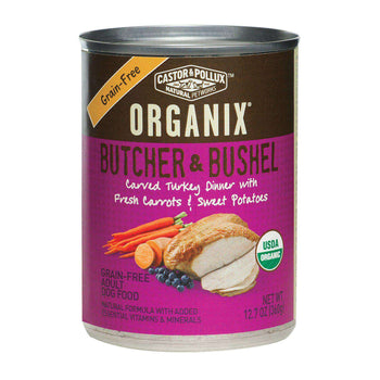 Castor And Pollux Organic Grain-Free Canned Dog Food - Turkey Dinner With Fresh Carrots And Sweet Potatoes - Case Of 12 - 12.7 Oz.-Castor & Pollux-DirtyFurClothing