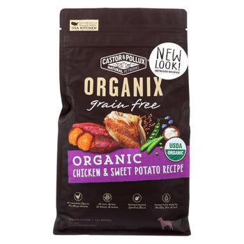 Castor And Pollux - Organix Grain Free Dry Dog Food - Chicken And Sweet Potato - Case Of 5 - 4 Lb.-CASTOR AND POLLUX-DirtyFurClothing