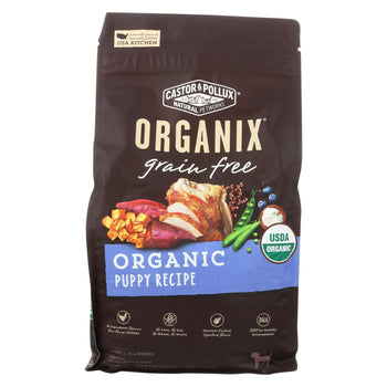 Castor And Pollux - Organix Grain Free Dry Dog Food - Puppy Recipe - Case Of 5 - 4 Lb.-CASTOR AND POLLUX-DirtyFurClothing