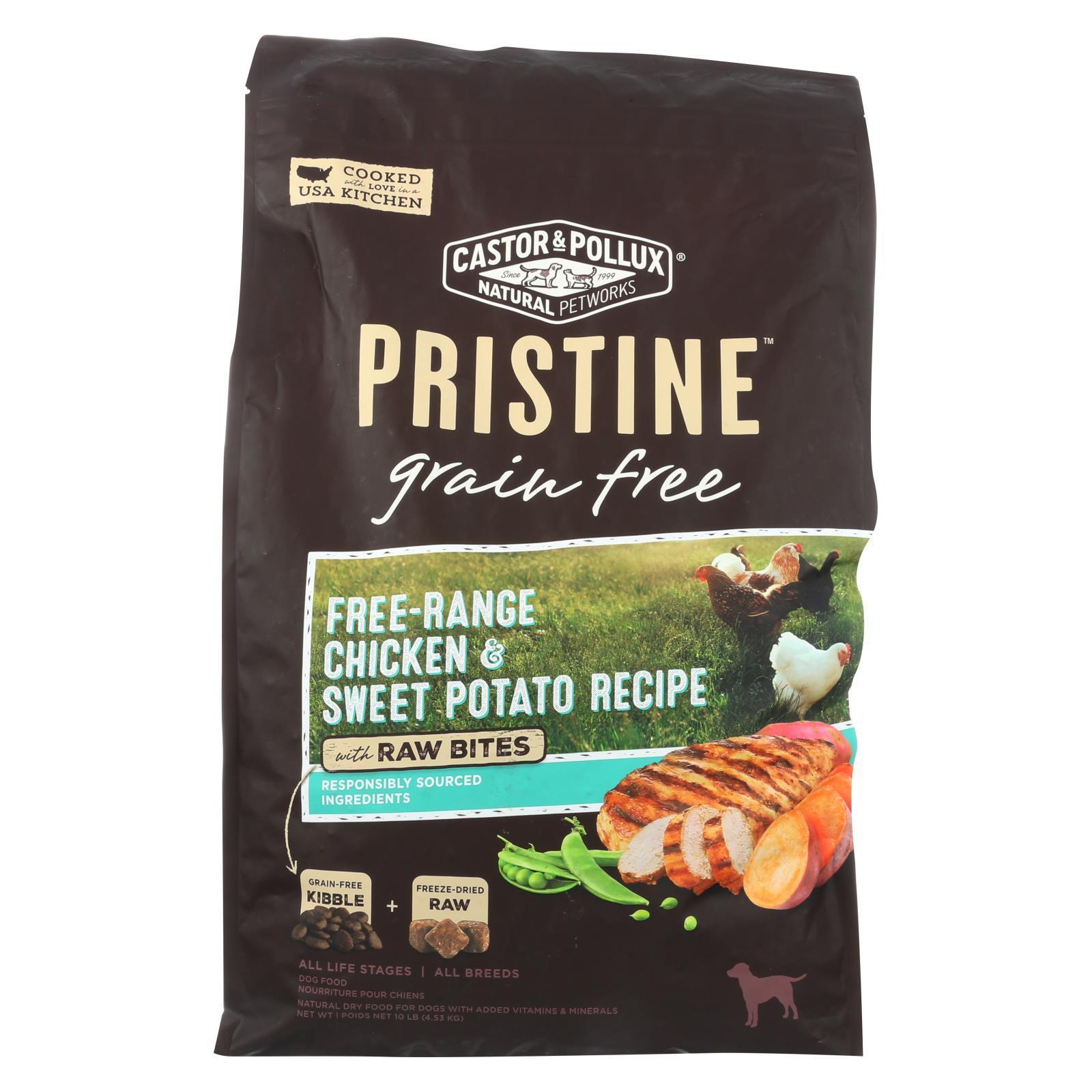 Castor And Pollux - Pristine Grain Free Dry Dog Food - Chicken And Sweet Potato - 10 Lb.-CASTOR AND POLLUX-DirtyFurClothing