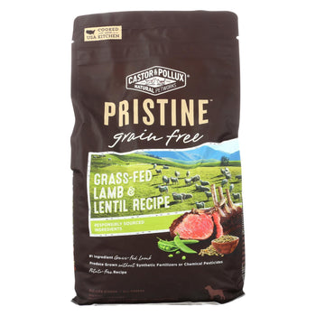 Castor And Pollux - Pristine Grain Free Dry Dog Food - Lamb And Lentil - Case Of 5 - 4 Lb.-CASTOR AND POLLUX-DirtyFurClothing