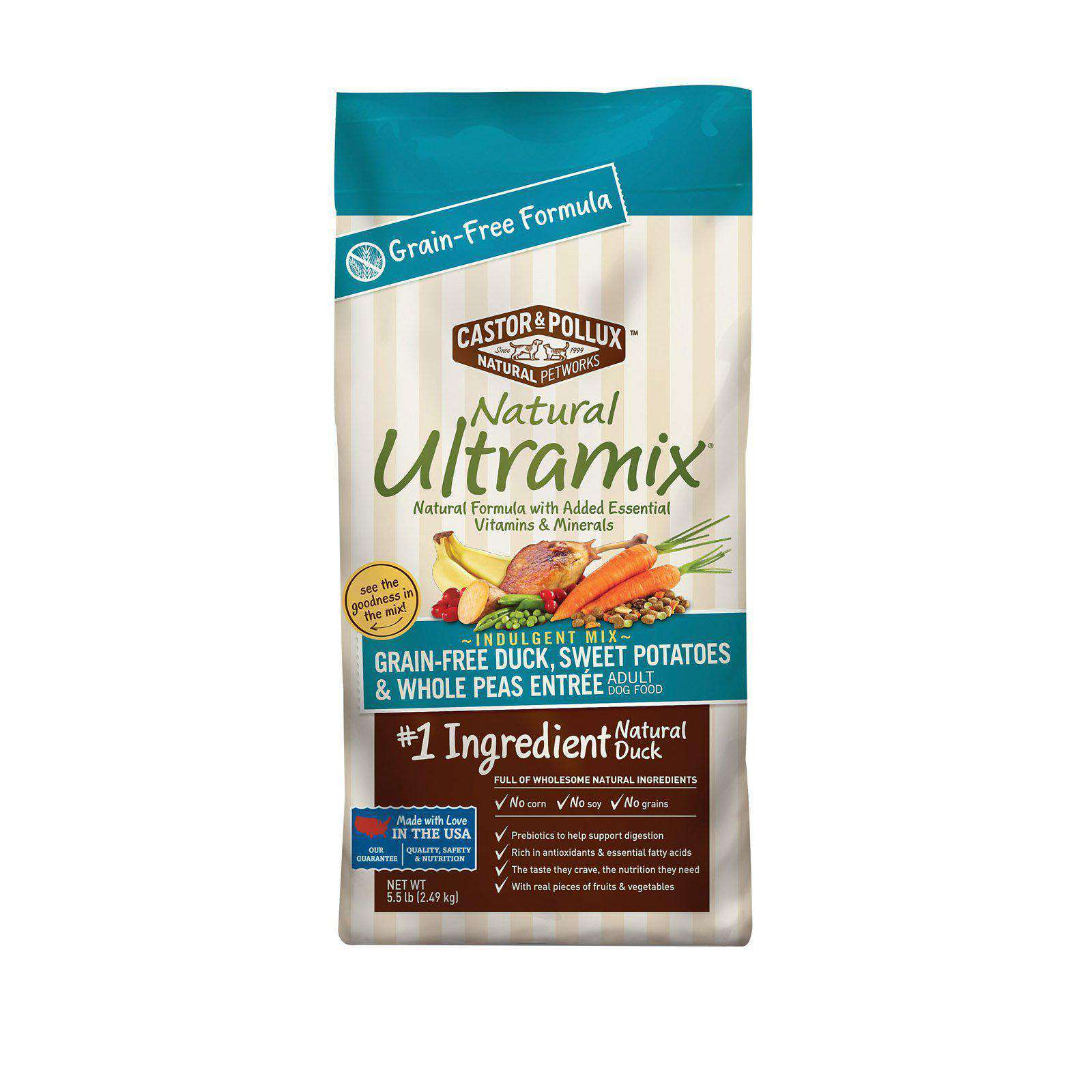 Castor And Pollux Ultra Mix Dog Food - Duck Sweet Potatoes And Peas - Case Of 5 - 5.5 Lb.-Castor & Pollux-DirtyFurClothing
