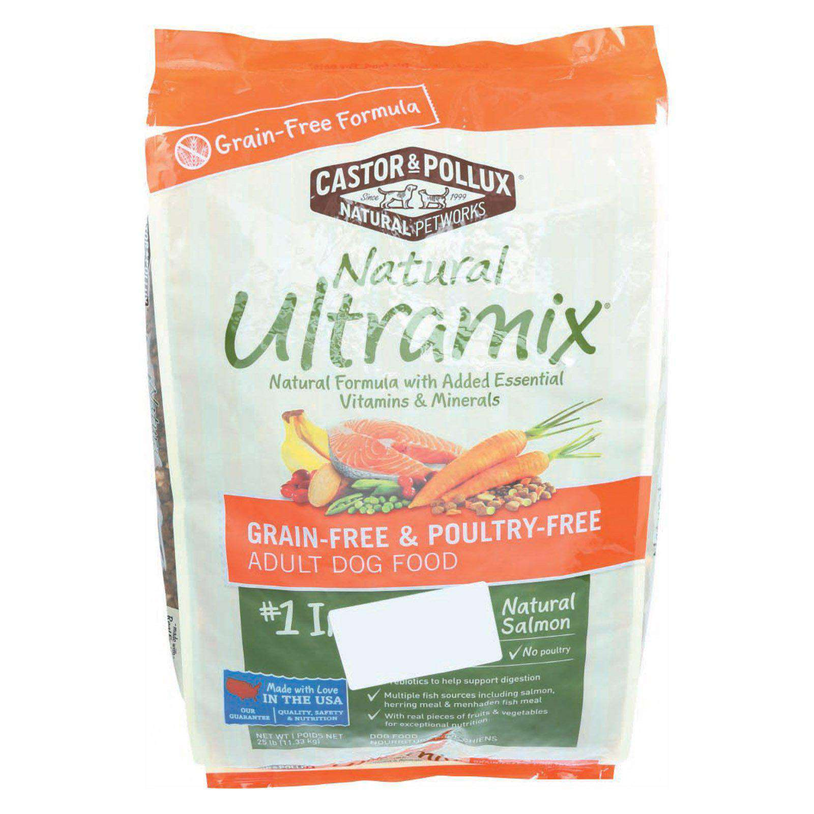 Castor And Pollux Ultra Mix Dog Food - Salmon - 25 Lb.-Castor & Pollux-DirtyFurClothing