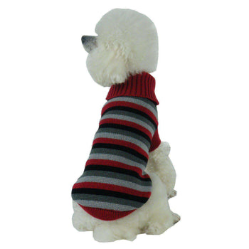 Casual Lounge Cable Knit Designer Turtle Neck Dog Sweater-Pet Life-DirtyFurClothing