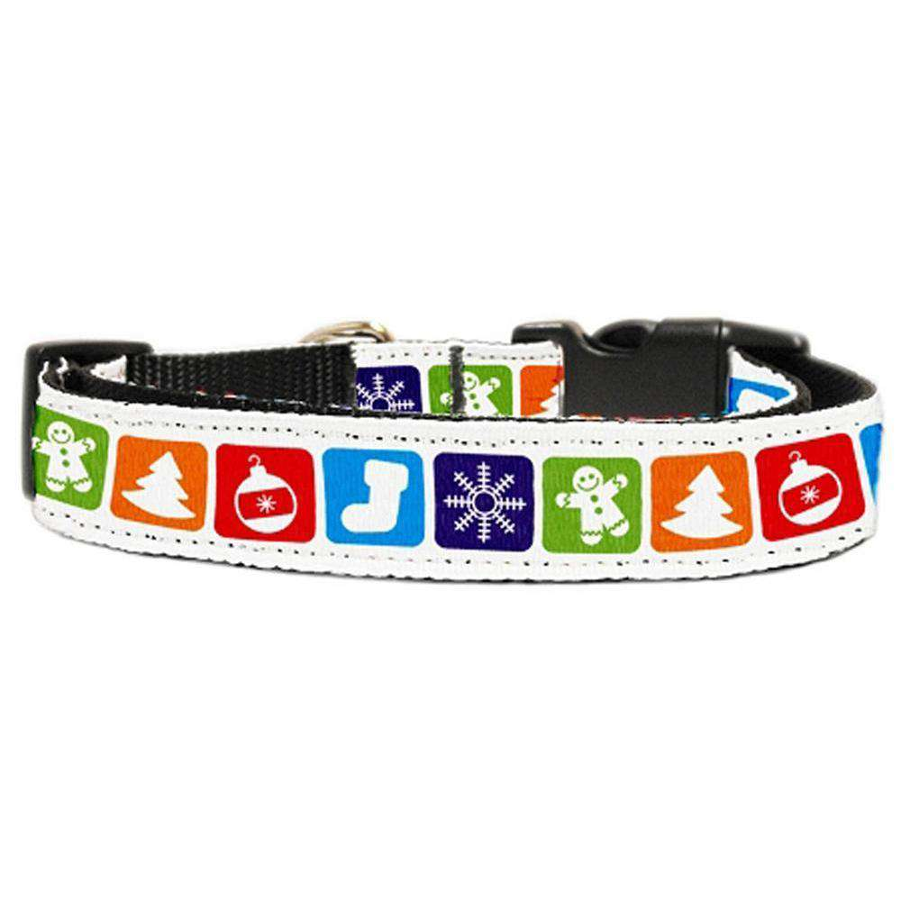 Classic Christmas Nylon And Ribbon Collars Extra Small-Mirage Pet Products-DirtyFurClothing