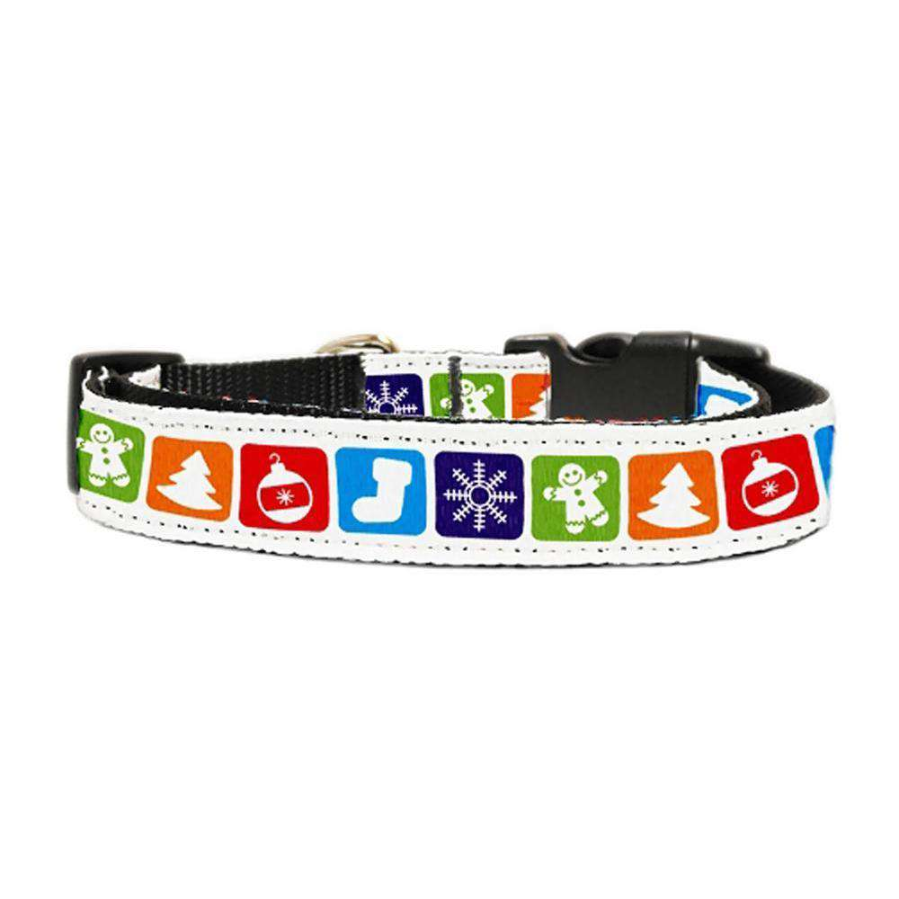 Classic Christmas Nylon And Ribbon Collars Small-Mirage Pet Products-DirtyFurClothing