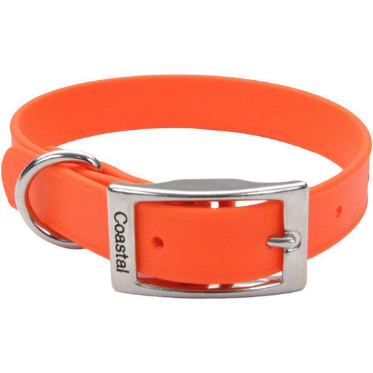 "Coastal 14"" Waterproof Dog Collar-Orange-Coastal Pet Products-DirtyFurClothing"