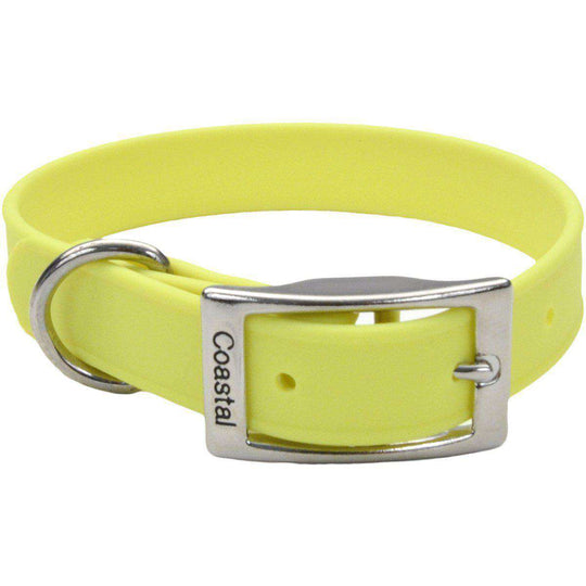 "Coastal 14"" Waterproof Dog Collar-Yellow-Coastal Pet Products-DirtyFurClothing"