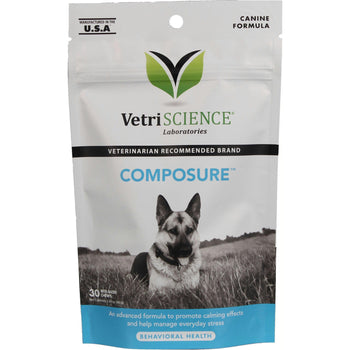 Composure For Dogs Calming Stress Relief Bite-Sized Chews-Pet Naturals Of Vermont-DirtyFurClothing