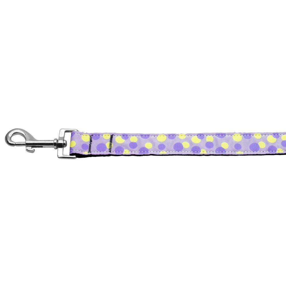 Confetti Dots Nylon Collar Lavender 1 Wide 6ft Lsh-Mirage Pet Products-DirtyFurClothing