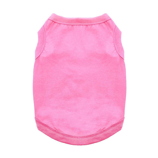 Cotton Dog Tank - Carnation Pink-DirtyFurClothing-DirtyFurClothing