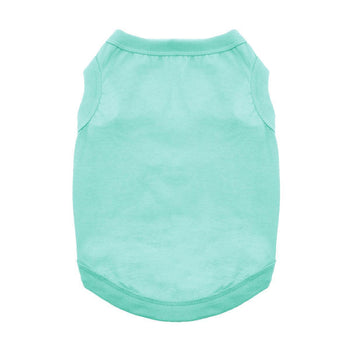Cotton Simple Wear Dog Tank - Teal-DirtyFurClothing-DirtyFurClothing