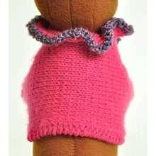 Deep Pink Dog Sweater Shrug with Heather Purple-Spocket-DirtyFurClothing