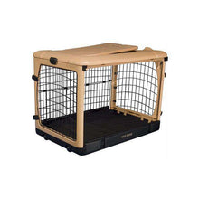 Deluxe Steel Dog Crate With Pad - Large-Pet Gear-DirtyFurClothing