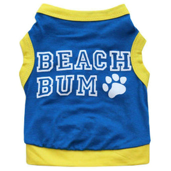 Dog Shirt Tank Top Vest Small Pet T Shirt (xs) (rear: 19cm) - Blue-Wukong Paradise-DirtyFurClothing