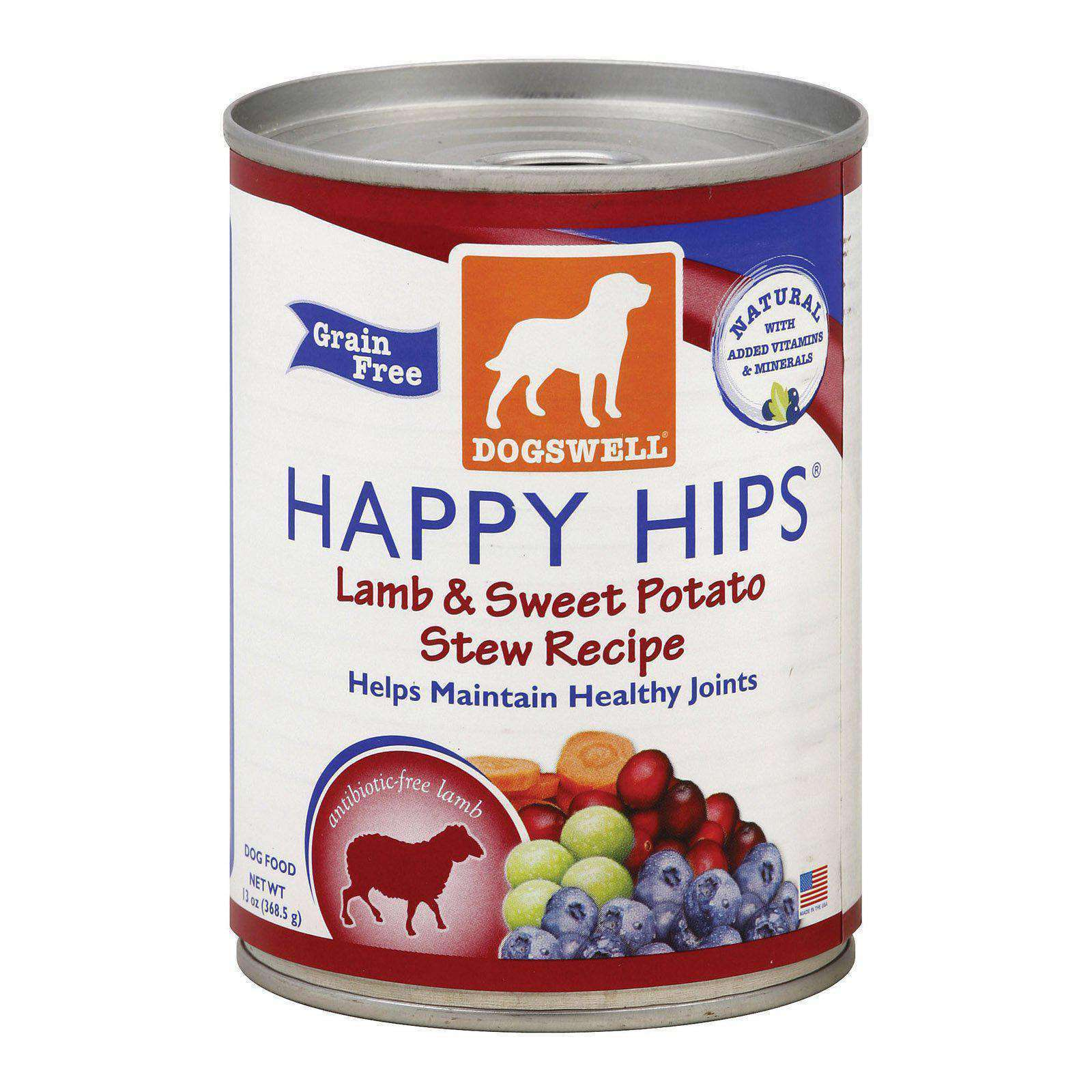 Dogs Well Happy Hips Lamb And Sweet Potato Stew Canned Dog Food - Case Of 12 - 13 Oz.-Dogswell-DirtyFurClothing