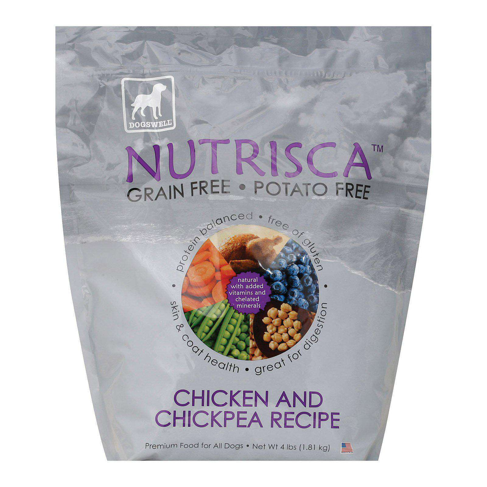 Dogs Well Nutrisca Chicken And Chickpea Dog Food - Case Of 6 - 4 Lb.-Dogswell-DirtyFurClothing