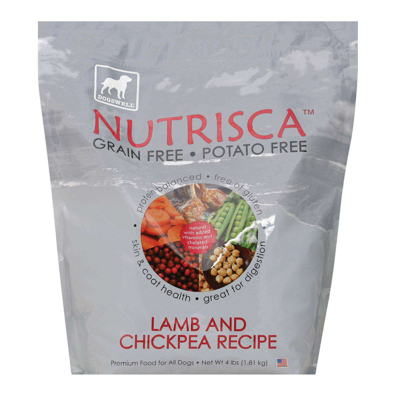 Dogs Well Nutrisca Lamb And Chickpea Dog Food - Case Of 6 - 4 Lb.-Dogswell-DirtyFurClothing