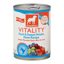 Dogs Well Vitality Duck And Sweet Potato Stew Canned Dog Food - Case Of 12 - 13 Oz.-Dogswell-DirtyFurClothing