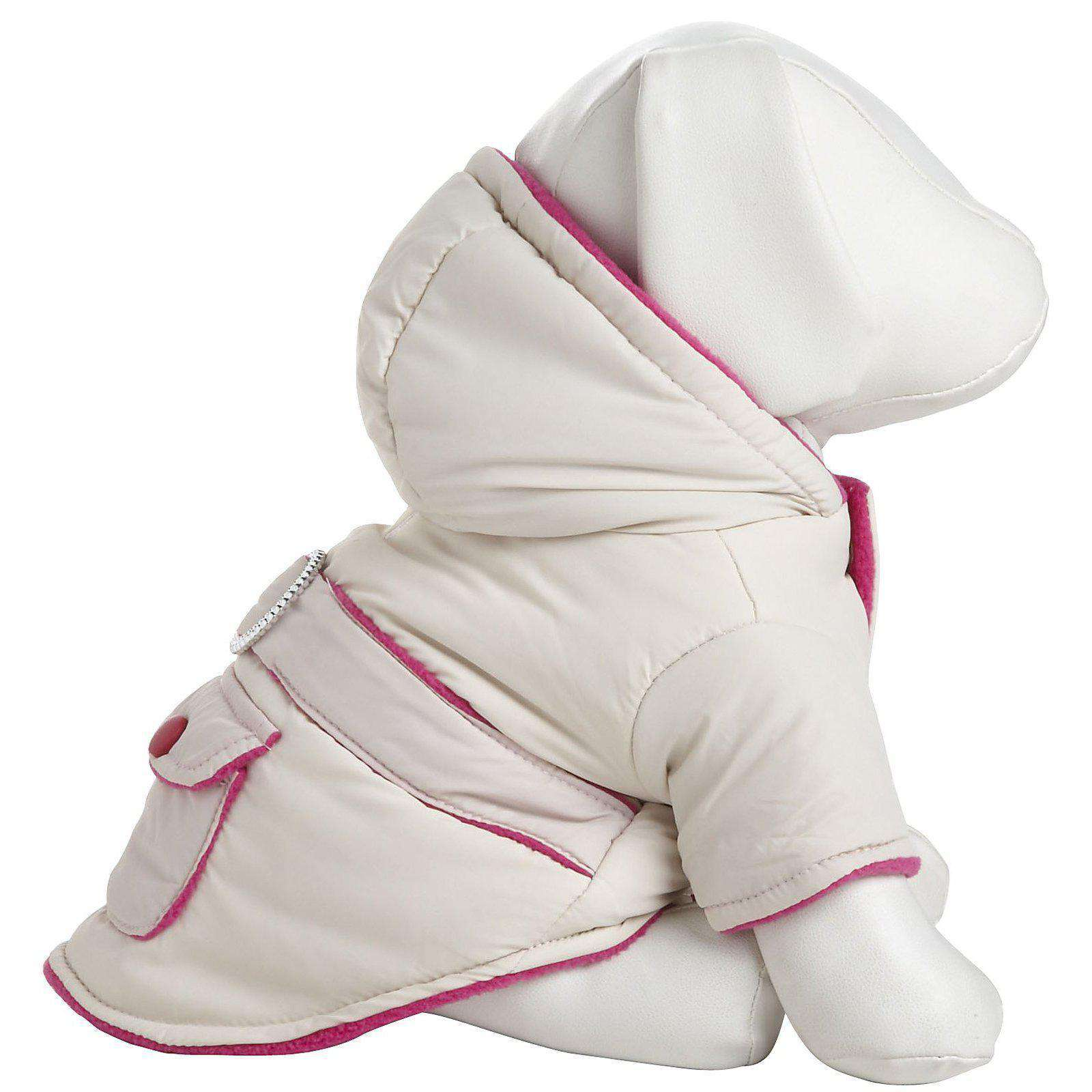 Double-Toned Jewel Pet Jacket - Beige And Pink-Pet Life-DirtyFurClothing