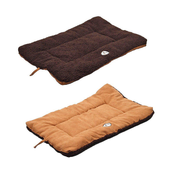 Eco-Paw Reversible Eco-Friendly Dog Bed- Brown And Cocoa-Pet Life-DirtyFurClothing
