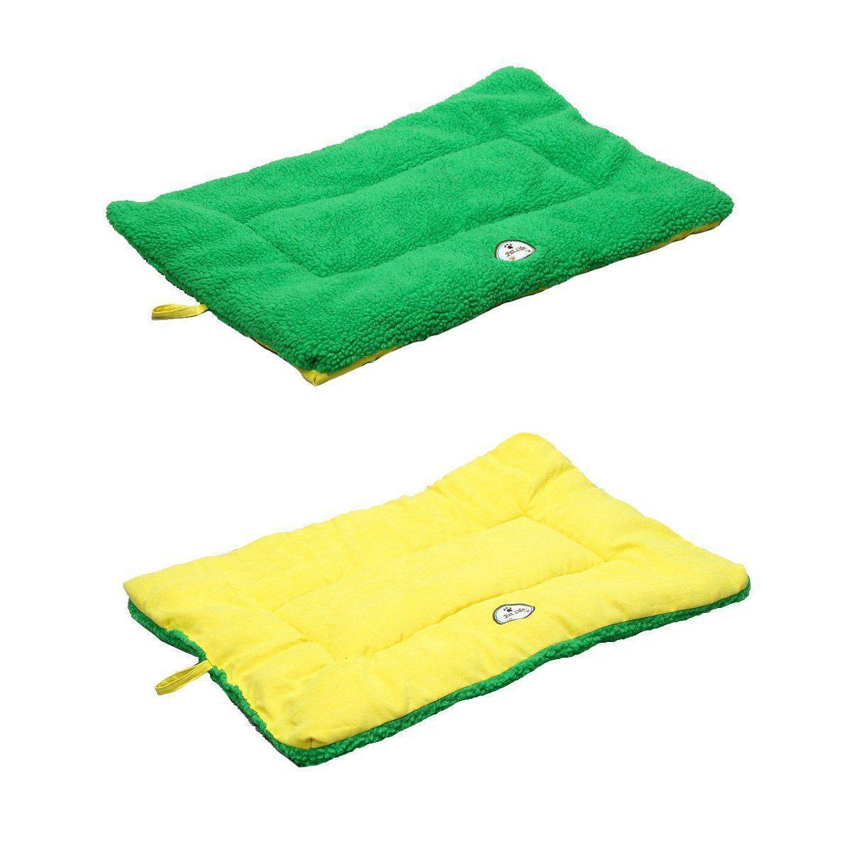 Eco-Paw Reversible Eco-Friendly Dog Bed- Green And Yellow-Pet Life-DirtyFurClothing