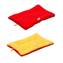 Eco-Paw Reversible Eco-Friendly Dog Bed- Orange And Red-Pet Life-DirtyFurClothing