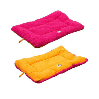 Eco-Paw Reversible Eco-Friendly Dog Bed- Pink And Orange-Pet Life-DirtyFurClothing