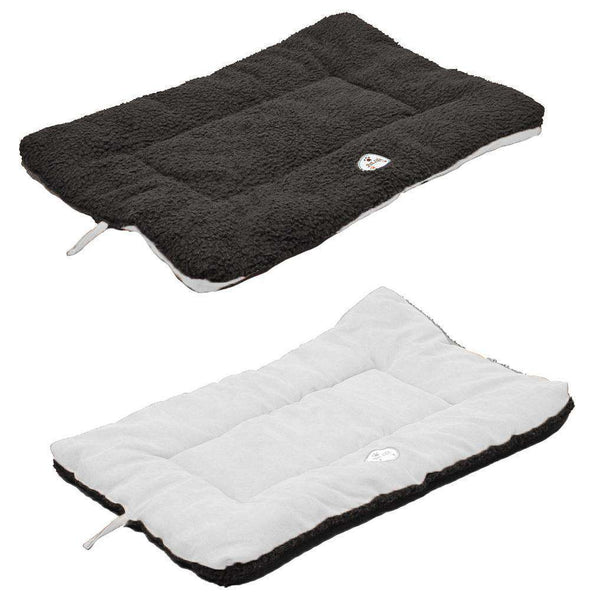 Eco-Paw Reversible Eco-Friendly Pet Bed- Black And White-Pet Life-DirtyFurClothing