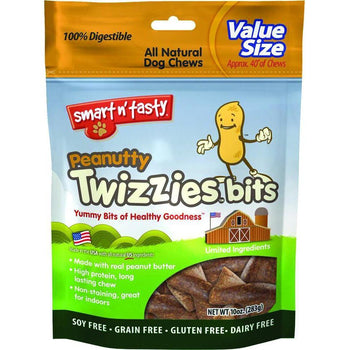 Emerald Pet Peanutty Twizzies Bits Grain Free Dog Chews-Emerald Pet-DirtyFurClothing