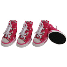 Extreme-Skater Canvas Casual Grip Pet Sneaker Shoes - Set Of 4- Pink/Polka-Pet Life-DirtyFurClothing