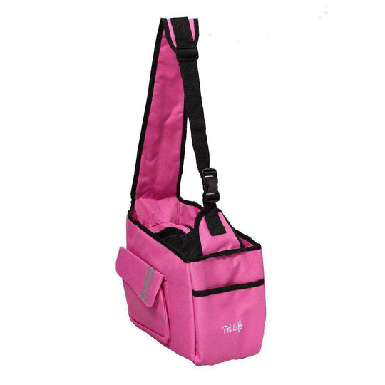 Fashion Back-supportive Over-the-shoulder Fashion Pet Carrier- Pink-Pet Life-DirtyFurClothing
