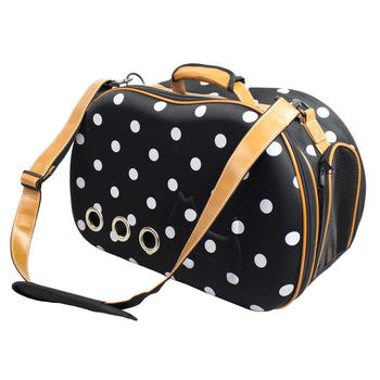 Fashion Dotted Venta-Shell Perforated Collapsible Military Grade Designer Pet Carrier-Pet Life-DirtyFurClothing