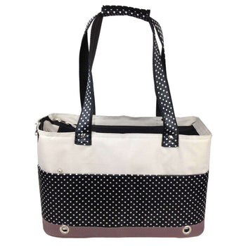 Fashion Tote Spotted Pet Carrier- As Displayed-Pet Life-DirtyFurClothing