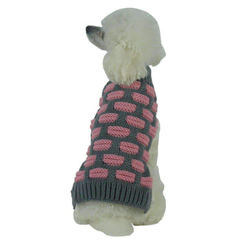 Fashion Weaved Heavy Knit Designer Turtle Neck Dog Sweater-Pet Life-DirtyFurClothing