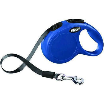 Flexi North America Llc - Classic X-Small Tape Retractable Dog Leash - Blue-Flexi North America Llc-DirtyFurClothing