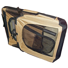Folding Zippered 360 Vista View House Pet Crate - Khaki-Pet Life-DirtyFurClothing