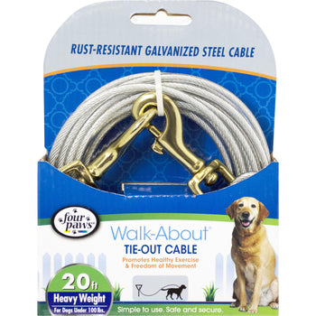 Four Paws - Container - Four Paws Dog Tie Out Cable-Heavyweight-Four Paws - Container-DirtyFurClothing