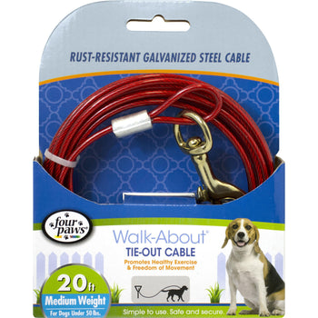 Four Paws - Container - Four Paws Dog Tie Out Cable- Medium Weight-Four Paws - Container-DirtyFurClothing
