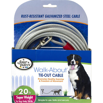 Four Paws - Container - Four Paws Dog Tie Out Cable-Super Weight-Four Paws - Container-DirtyFurClothing