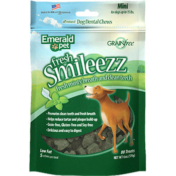Fresh Smileezz Dog Grain Free Dental Treats-Emerald Pet-DirtyFurClothing