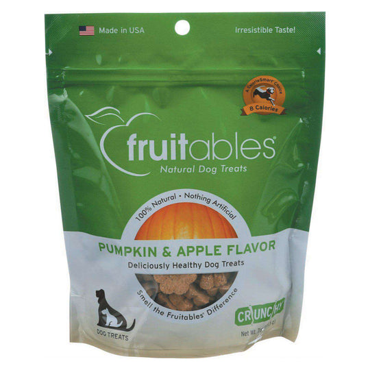 Fruitables Healthy Dog Treats - Pumpkin & Apple Flavor - Case Of 8 - 7 Oz-Fruitables-DirtyFurClothing