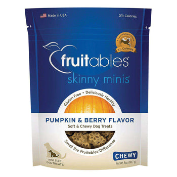 Fruitables Skinny Minis Dog Treats - Pumpkin & Berry Flavor - Case Of 8 - 7 Oz-Fruitables-DirtyFurClothing