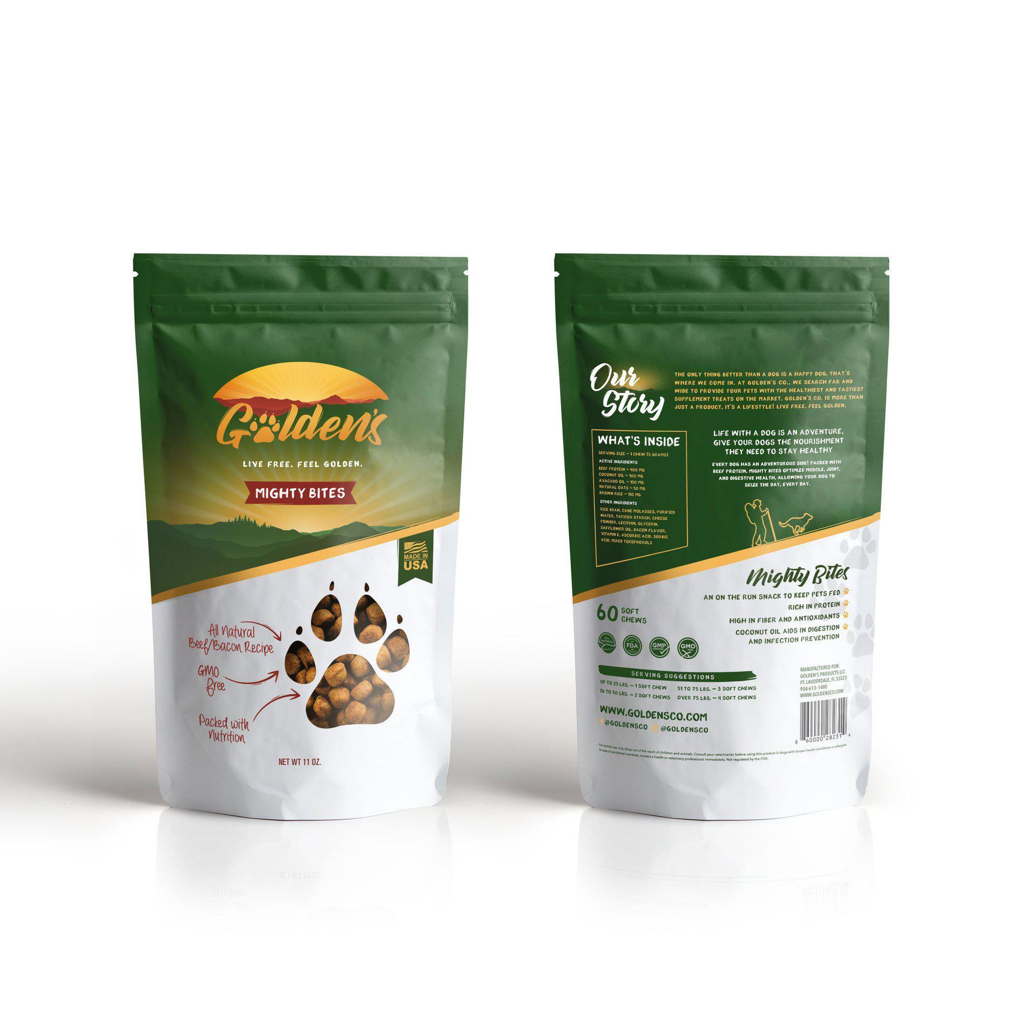 Golden's Might Bites - Loaded with B-12 and Protein, 60 Treats-Golden's Co-DirtyFurClothing