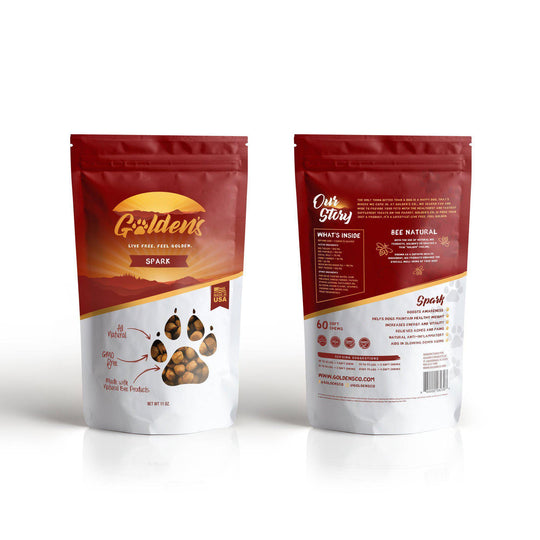 Golden'S Spark - Made With Natural Bee Ingredients, 60 Treats 20.00% Off Auto Renew-Golden's Co-DirtyFurClothing